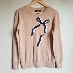 banana republic cashmere blend bow sweater size M